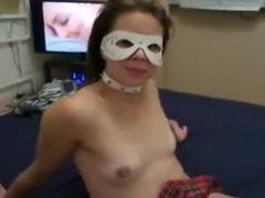 My horny bitch in mask