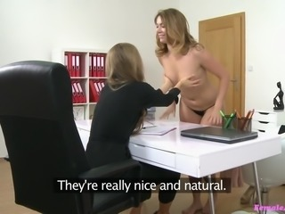 lesbian sex during interview