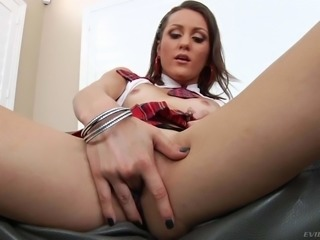 Skinny schoolgirl Renee Roulette with the smallest tits you have