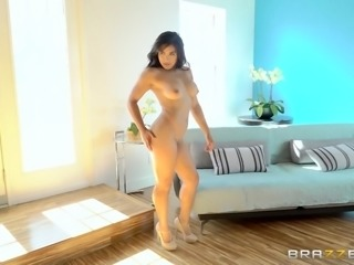 Butts look hotter when oiled and Mia's crazy ass is no exception! Click to watch the busty brunette fucked hard from behind, while leaning over the window. This naked slut on high heels just can't wait to have her ass banged hard... Enjoy.