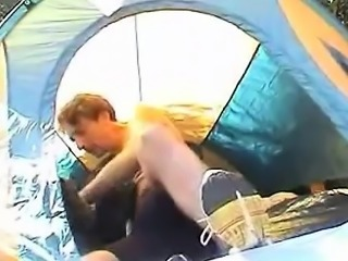 It was funny trying to do a 69er in an one persons tent We