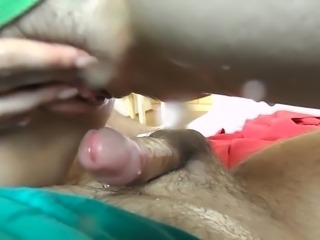 Squirting on my dick POV