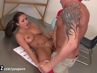 Teen Slut Seduces Her Teacher After Class! - WANKZ
