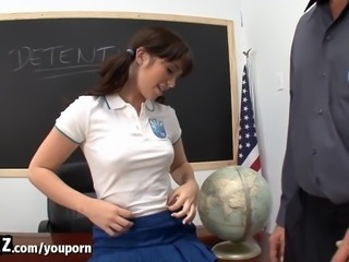 WANKZ - Tight Schoolgirl Takes Her Teacher s Huge Cock After Class!