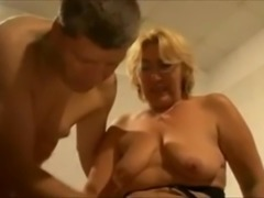 Beautiful blonde and horny grandma