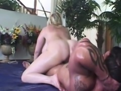 Oiled up bbw bouncing on the sexy dick