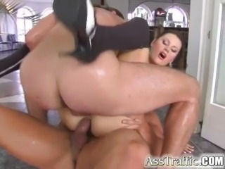 Ass Traffic Karma has big real boobs gets DP'd in sweet ass
