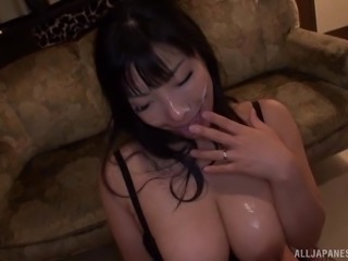 Sankihon Nozomi has a peculiar taste for cum. She just loves being surrounded...