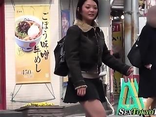Kinky asians flash undies