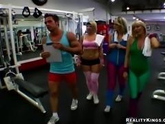3 Busty Babes vs 1 Cock - CFNM Secret