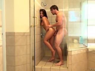 adriana fucked hard in shower