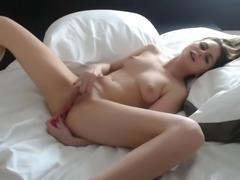 Girlfriend caught on cam while masturbating
