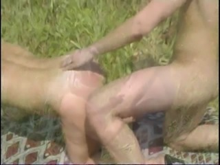 Mature Mom and her boy on nature! Russian Amateur!