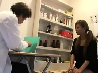 Girls go to get examined and have their tight pussies opene