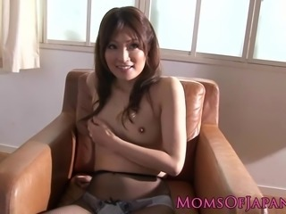 Mature asian masturbating with vibrating egg