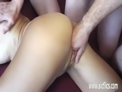 Gang bang fisting amateur wifes greedy pussy