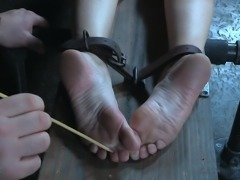 Milf India Summer was shackled and her dominant master didn't care painful...