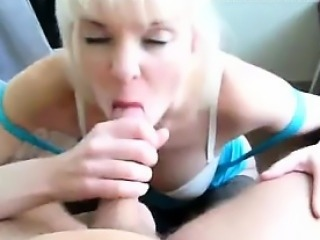 Crazy milf in attractive clothing swallows and sucks