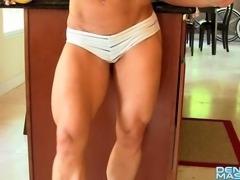 Denise Masino - Going bananas - Female Bodybuilder