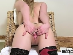 Horny czech sweetie spreads her tight pussy to the peculiar