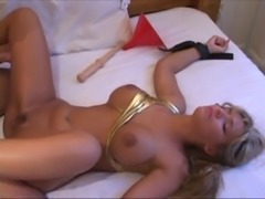 BBC dominates and uses hotwife with huge cock and toys