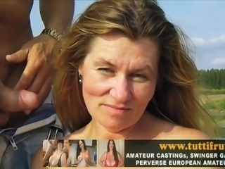 public porn casting with big tits Euro MILF