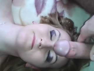 My girlfriend loves when I cum on her face like this