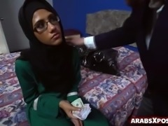 Arab teen payed to suck cocks in a shabby hotel room