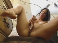 Hot MILF Fucks Her Pussy Hardcore. Watch this milf babe playing with her...