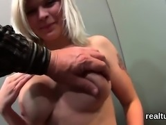 Charming czech cutie gets seduced in the hypermarket and pok