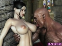 3d Hentai Posh Girl vs, Black Monster Cock - FreeFetishTVcom