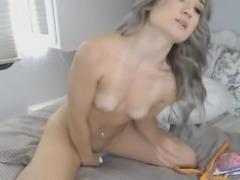 Flawless Sexy Babe Masturbates Her Pussy