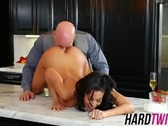 Busty Luna Star fucked in the kitchen