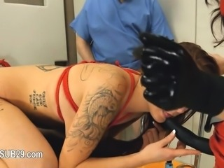 Submissive BDSM sex with asshole whore