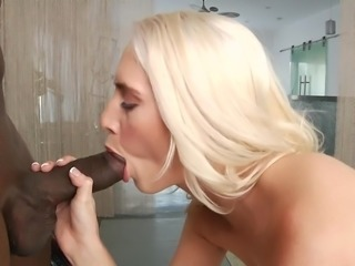 There is nothing like a high quality interracial porn. Especially, when it's featuring stars like Prince Yashua and Cadence Lux. Her pale tan compared to his dark skin provides amazing visual sensation. You'll love the sight of this pale princess, sucking on a big black cock.