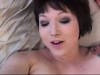 Our natural short-haired partner enjoys fucking her rectum