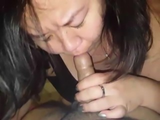 Korean MILF sucking my desi cock