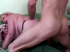 Big boobed mature sexy mother fucked by young lover