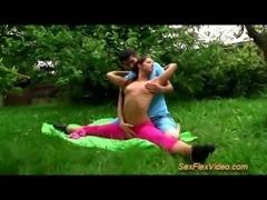 sexflex outdoor fuck gymnastic