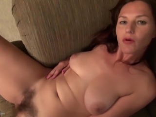 Amateur mom with hairy hungry pussy