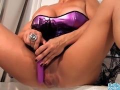 Denise Masino - Purple Toy Masquerade - Female Bodybuilder