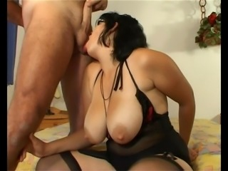 Chubby MILF with amazing tits get fucked - my 50th upload!