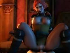 Triss riding cowgirl