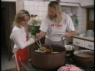 Waitress fucks the chef