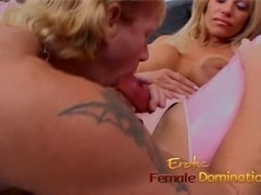 Busty blonde wench has her cunt fingered and fucks a horny