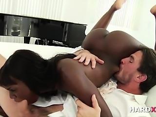 Interracial deepthroat sucking