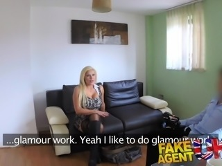 FakeAgentUK Sexy blonde MILF gets a good fucking in casting
