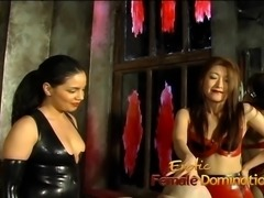 Three raunchy playgirls give this kinky stud a proper