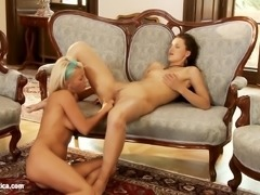 Divan Delights by Sapphic Erotica - lesbian love porn with