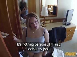 Fake Cop Curvy slut bounces on cops cock